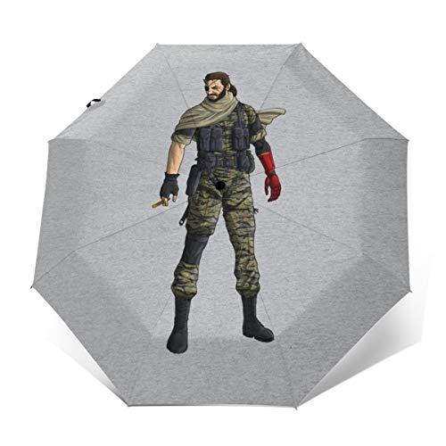 Metal Gear Solid V Venom - Paraguas Plegable de Apertura y Cierre...