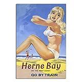 ASFGH Herne Bay British Railway Vintage Reise Poster Dekor