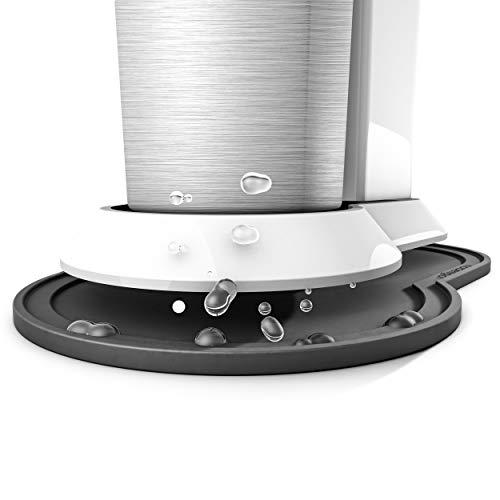 Silikon Anti-Rutsch Abtropfmatte, Untersetzer kompatibel mit SodaStream Crystal, Unterlage, Auffangschale, Abtropfschale (kompatibel mit SodaStream Crystal, Schwarz)