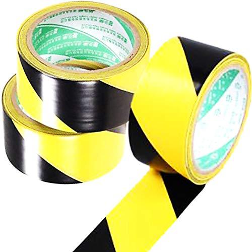 dilib 虎テープトラテープ トラ表示テープ 安全テープ PVC警告テープ 注意喚起 イエロー/ブラック 危険表示 駐車 立ち入り禁止 屋外 (48mmx17m 3個セット)
