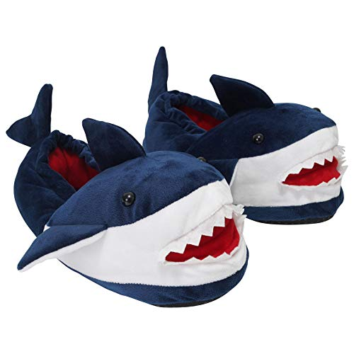 Keanu KC159-11-12 - Boys Blue Shark Slipper - Size 11-12