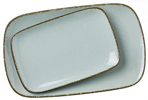 Ritzenhoff & Breker Servierplatten-Set Casa, 2-teilg, 24x15,5 cm und 33x20 cm, Blau