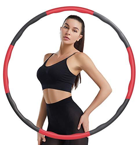 Surwit Hula Fitness Reifen,Hoola Hoop Reifen für Erwachsene & Kinder zur Gewichtsabnahme und Massage