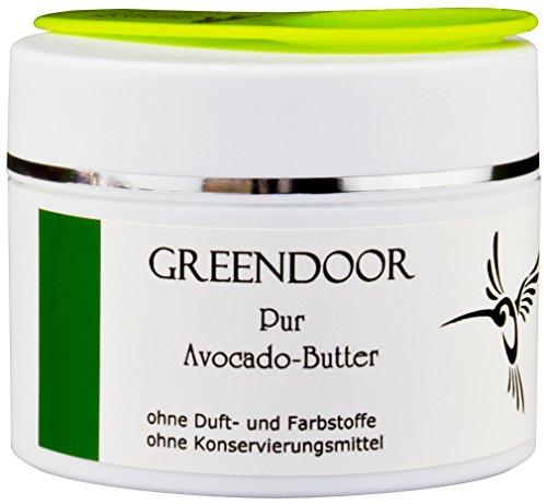 PUR Avocadobutter 100ml, rein, nur physikalisch raffiniert, vegan, incl Bambus Kosmetikspatel, allergenfreie Naturkosmetik, natürliche Avocado Butter, Natur Pur