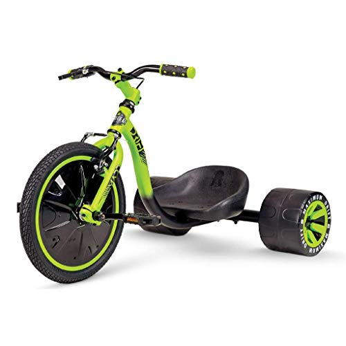 MG Mini Drift Trike – Suits Boys & Girls Ages 5+ - Max Rider Weight 150lbs – 3 Year Manufacturer's Warranty – Awesome Drifting Action – Built to Last Est. 2002 (Black/Green 2020)