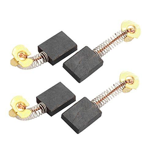sourcingmap® 4pcs Escobillas de carbón de motor eléctrico con Resorte para herramienta...
