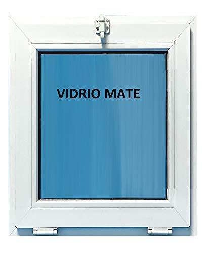 (V24M) Ventana Pvc Baño 500x700 Golpete Abatible Climalit Mate