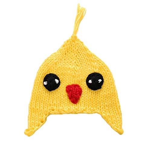 YeahiBaby Häkeln Hüte Huhn für Baby Winter Ostern Weihnachten Kappe Geschenk (Gelb)