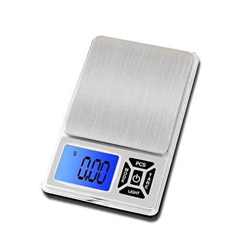 Panduo Báscula electrónica de alimentos para cocina, báscula electrónica, báscula de precisión, báscula de cocina (tamaño: 300 g/0,01 g) (tamaño: 500 g/0,01 g)