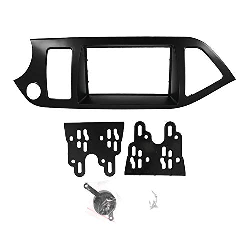 Rumors 9 Pulgadas 2din Coche Fascia Fit para Kia Morning Picanto Estéreo Fascias Panel Dash Mount Installion Coche DVD Frame Kit In-Dash