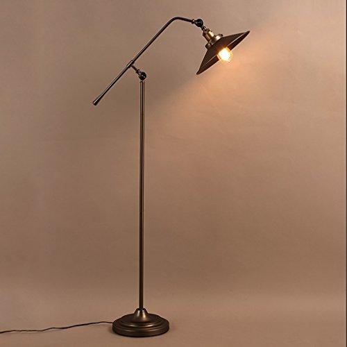 SXRKRZLB Lámparas de pie Retro Industrial lámpara de Piso de la Sala de Estudio Loft Retro Hierro Forjado lámpara de pie Creativa