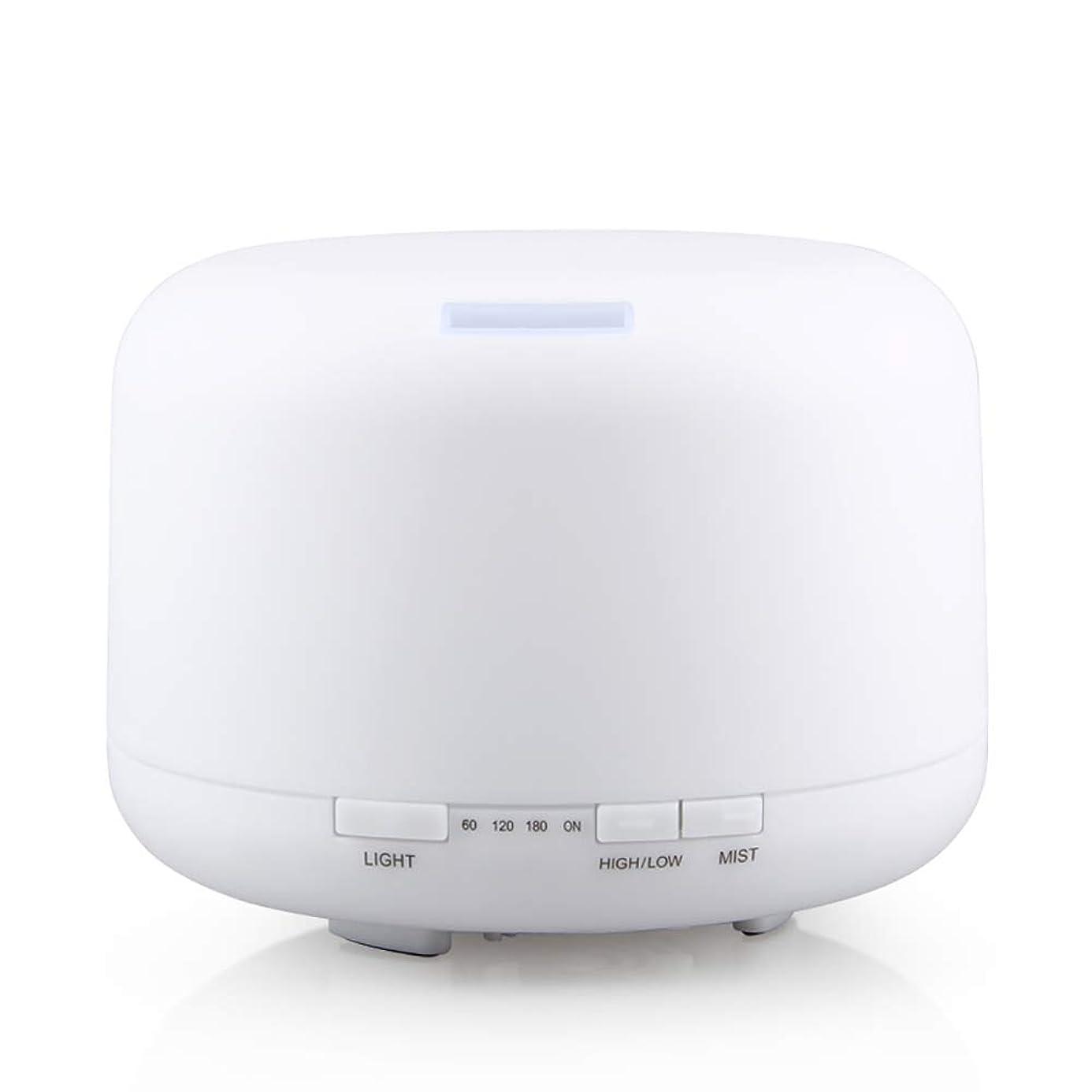 入植者前件コットン500ml 家庭用加湿器プラグイン超音波アロマセラピーマシンエッセンシャルオイル加湿器ホームナイトライト