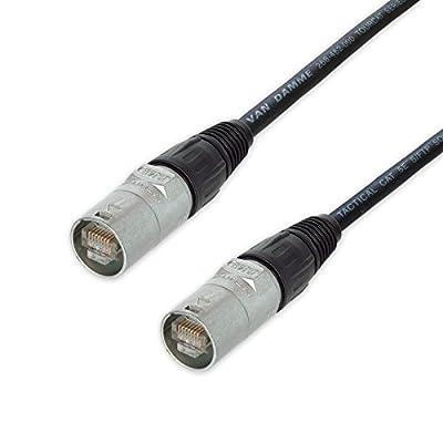 Shielded Neutrik Ethercon Lead. Van Damme Flexible CAT5e. Network Ethernet Cable (20m)