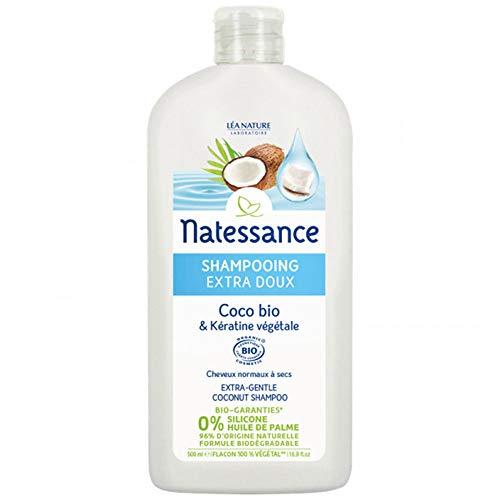 Natessance Shampooing Extra Doux Coco Bio/Kératine Certifié Biologique Cosmos Organic...