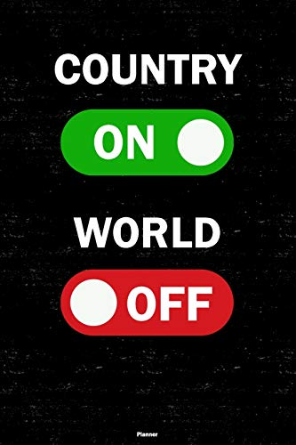 Country On World Off Planner: Country Unlock Music Calendar 2020 - 6 x 9...