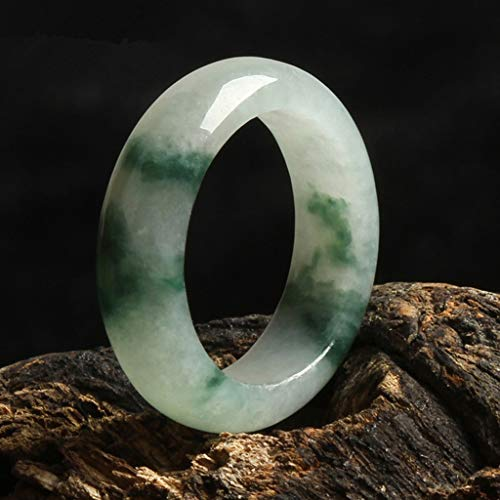 KALRTO Natürliche Jade Ring, EIS Blume Schwimmende Jade Ring, Handgefertigte Männer Und Frauen Hand Schmuck, Geschenke, Innendurchmesser Von Ca. 18 Mm