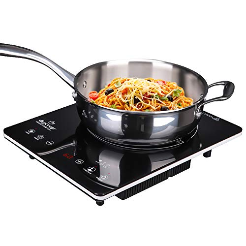 Duxtop Ultra Thin Full Glass Top Portable Sensor Touch Induction Cooktop Countertop Burner, 1500W