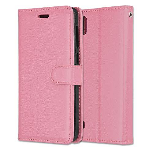 Yiizy Handyhüllen für ZTE Blade A530 Ledertasche, Mode Stil Lederhülle Brieftasche Schutzhülle für ZTE Blade A530 hülle Silikon Cover mit Magnetverschluss Kartenfächer (Rosa)