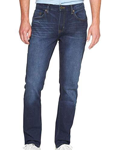 BANANA REPUBLIC Men's 359260 Techmotion Slim-Fit Stretch Blue Jean, Medium Wash (31x30)