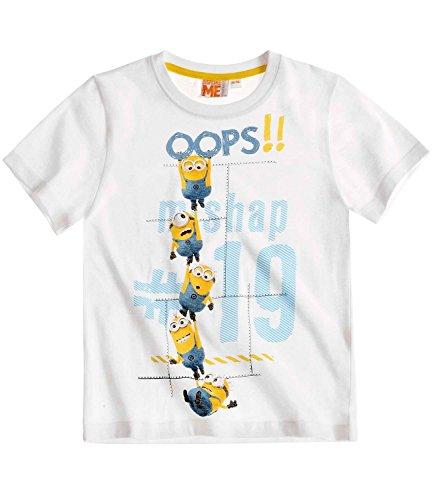 Die Minions T-Shirt Kollektion 2016 Shirt 110 116 122 128 134 140 146 152 Neu Kurzarmshirt Jungen Weiß (134-140, Weiß)
