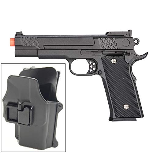 UKARMS Galaxy G20H Full Metal M945 Airsoft Spring Hand Gun with Quick Release Holster