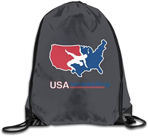 engzhoushi Turnbeutel,Sporttaschen,Schultasche Drawstring Bag Portable Travel Daypack Gym Bag Usa America Wrestling Logo