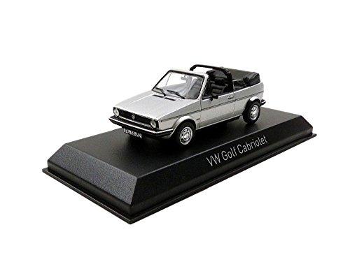 Norev–Maqueta Volkswagen Golf Cabriolet–1981–Escala 1/43, 840073, Plata