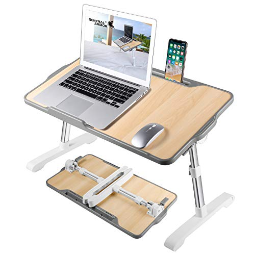 GENERAL ARMOR Laptop Table Bed Tray with Foldable Legs -Portable Lap Desk...