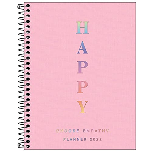Agenda Espiral Planner Happy M7, Tilibra, Rosa