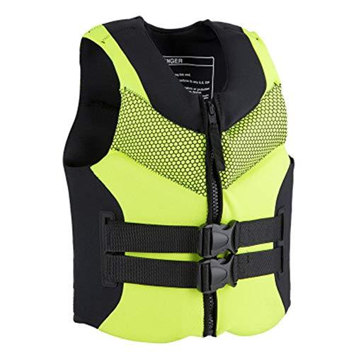 Find Bargain QERNTPEY Life Jacket Life Jacket Adult PVC Buoyancy Vest Fishing Boat Drifting Vest Sno...