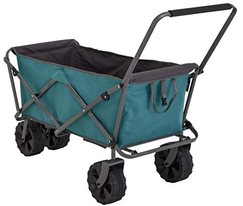 Uquip Buddy XL Outdoor Utility Wagon Beach Cart, Big Wheels for Sand, Heavy Duty Folding Steel...