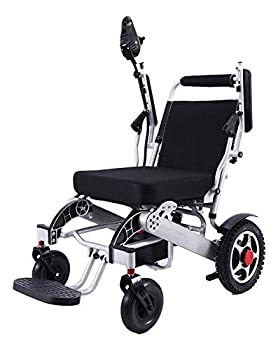 Deluxe Fold Foldable Power Compact Mobility Aid Wheel Chair Lightweight Folding Carry Electric Wheelchair Motorized Wheelchair Powerful Dual Motor Wheelchair Lighter Stronger Taller Wider
