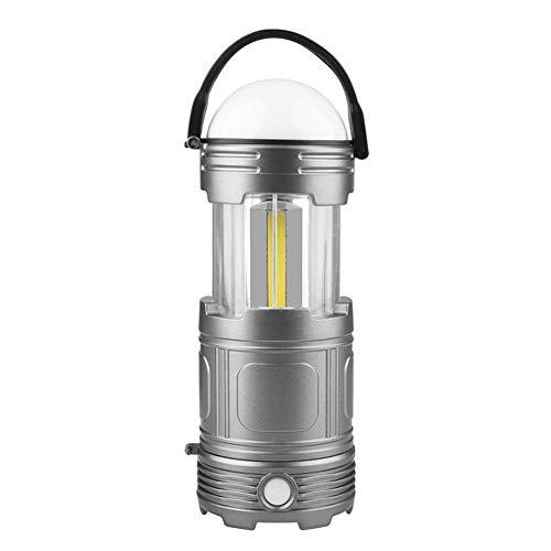Camping Lantern,Solar Lights Portable COB LED Camping Lantern Lamp Solar/USB Powered Collapsible Tent Light for Outdoors Travel Hiking