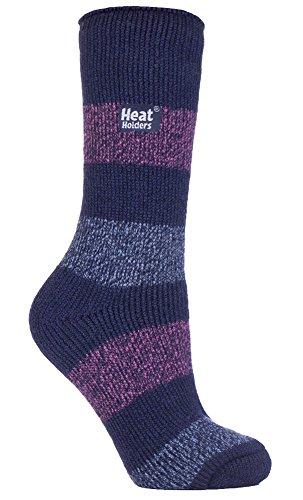 HEAT HOLDERS - Damen Gemusterte Twist Thermal Socken in 10 Farben, Größe 37-42 EUR (seascale)