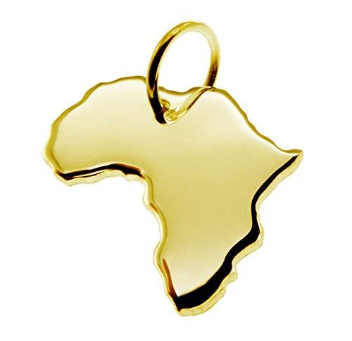 Anhänger Landkarte Kettenanhänger in gold gelb-gold in der Form von AFRIKA