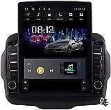 Pantalla Vertical de 9,7 Pulgadas Android 9.1 Coche Multimedia Player para Jeep Renegade 2016-2018, Soporte GPS Navegador Radio De Coche USB BT Mandos de Volante