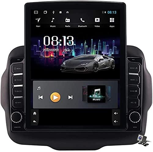 Schermo verticale da 9,7 pollici Android 9.1 Multimedia Player Car For Jeep Renegade 2016-2018, GPS Support Browser Autoradio Autoradio USB BT Volante