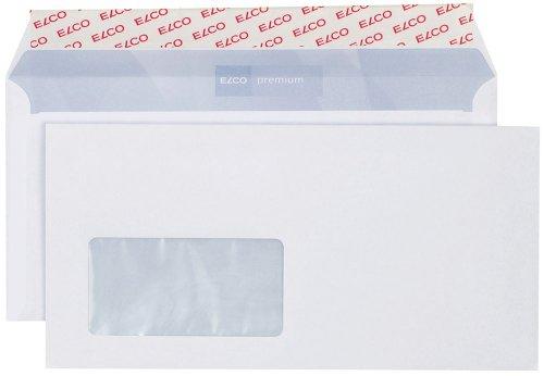 Elco 30779 Premium Briefumschlag, Dinlang, 100 g, weiß