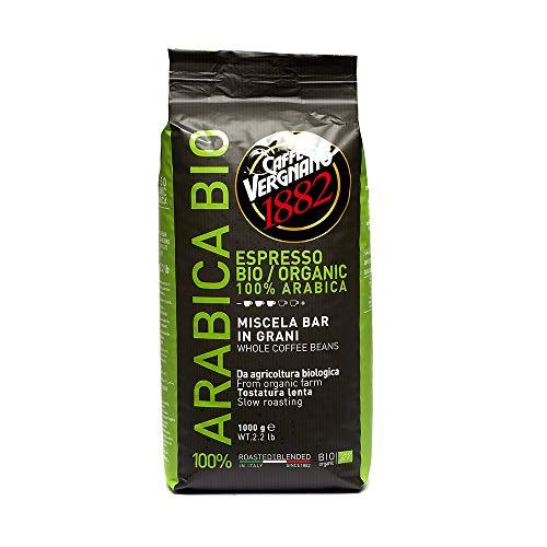 Caffè Vergnano 1882 Kaffeebohnen 100% Arabica Bio - 1 Packung enthält 1 Kg