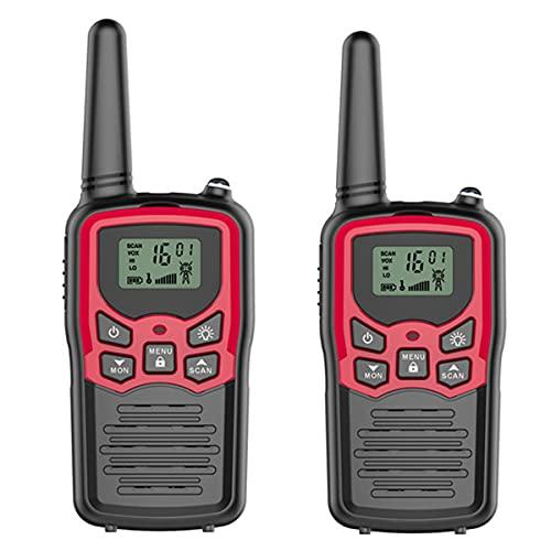 Radtel PMR 446Mhz Walkie Talkie de Largo Alcance para Adultos/niños 8 Canales Radios con VOX Scan Pantalla LCD Linterna LED para Caza al Aire Libre Senderismo Camping