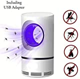 ANR Electric Indoor Mosquito Trap, Mosquito Killer Lamp with USB Power Supply and Adapter, Photocatalytic UV Light, Suction Fan, No Zapper.