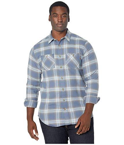 Timberland Herren Woodfort Flex Flannel Shirt (Big/Tall) Work Utility Hemd, Mount Washington Vintage Indigo Plaid, XX-Large Hoch