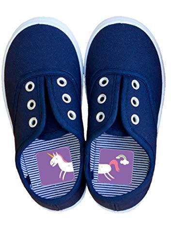 Laufkleber - Schuhe anziehen spielerisch lernen, für Kinder zur Vermeidung von Entenfüßen, Aufkleber mit Fabelwesen