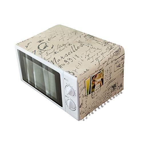 VOSAREA Protector a Prueba de Polvo del paño del refrigerador de la Tela Cubierta de Polvo Multiusos Impermeable del Aceite con los Bolsillos para la Lavadora del Horno de microondas 30x90cm