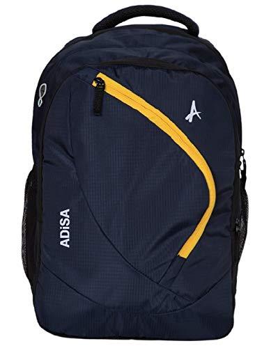 ADISA Laptop Backpack with Rain Cover 31 Ltrs (BP004-NAV_Navy Blue)