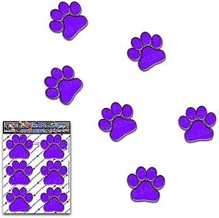 紫色の足跡動物ペット猫犬小パック車のステッカーデカール-ST00002PL_SML-JASステッカー