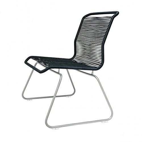 Montana Panton One Lounge Sessel Outdoor - Silber/schwarz