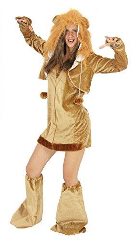 Foxxeo Traje de león para señoras Trajes de Animales Vestido Sexy para Carnaval y Carnaval de Adultos, Talla: XL