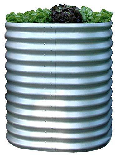 Gartenpirat Hochbeet rund Höhe 86 cm Ø 82 cm aus Metall Alu/Zink-beschichtet