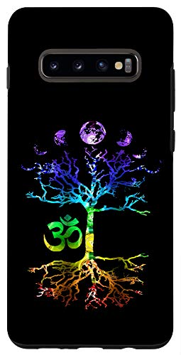 Galaxy S10+ Phases of the Moon Tree of Life Om Chakra Case